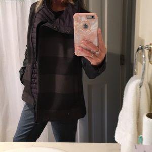 Mixed media fleece lined jacket